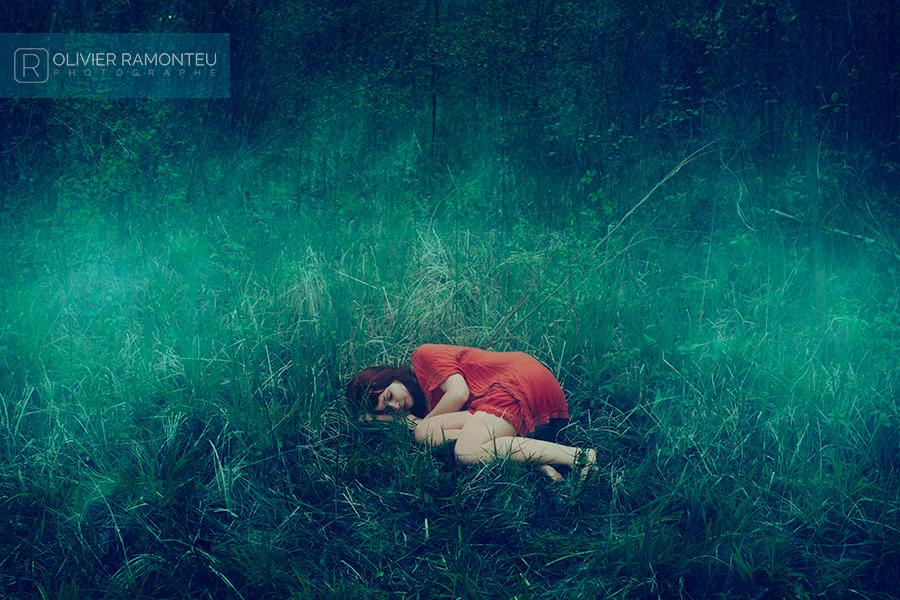 Photographie artistique réalisée avec la modèle Lily Amadieu