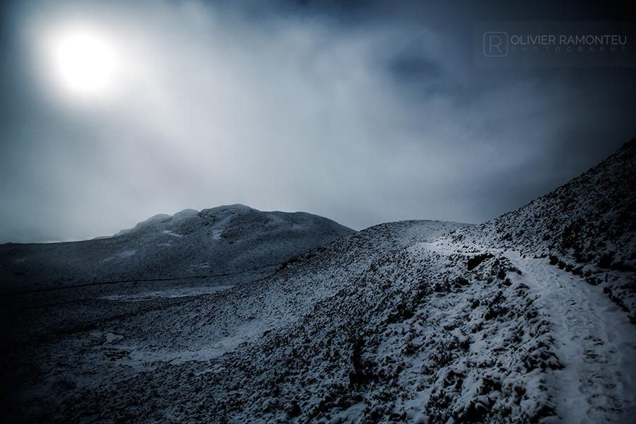 Ascension du Ben Vrackie en Ecosse sous la neige