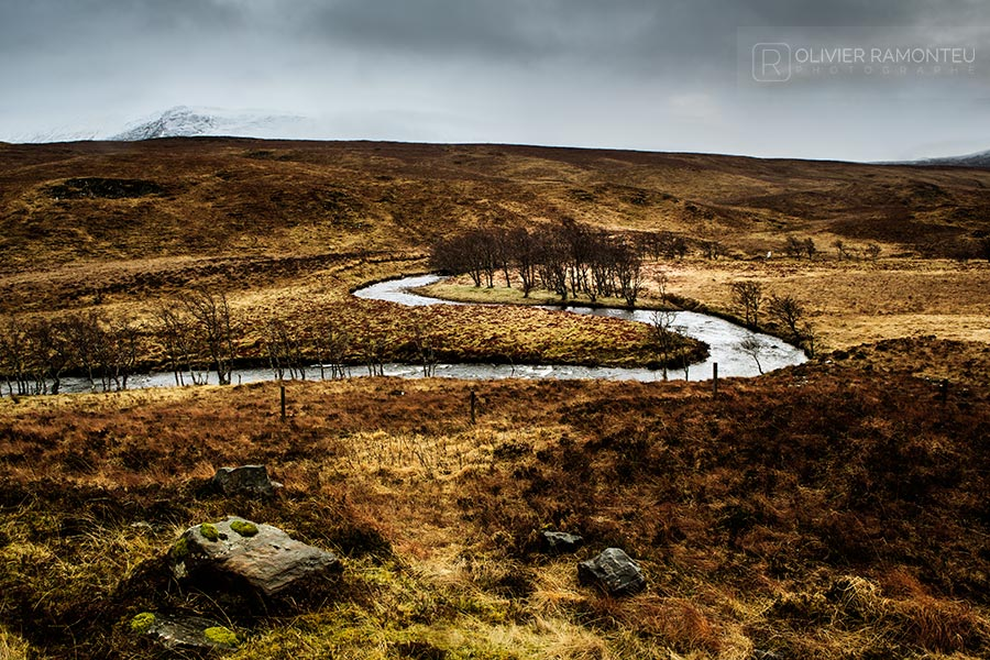 Rivière dans les highlands