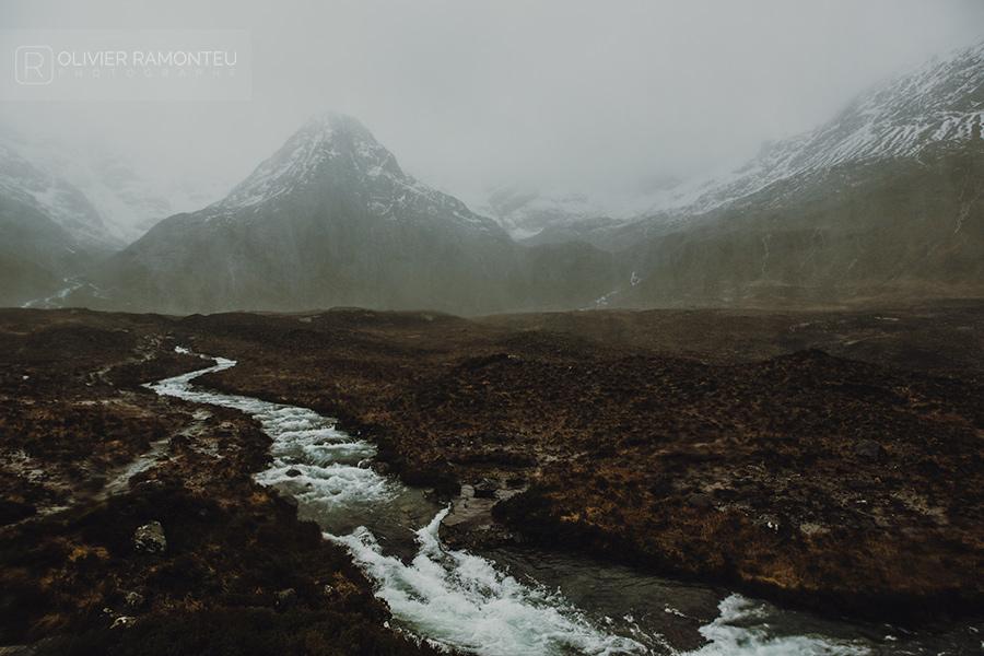 Sommets sur l'île de Skye en Ecosse