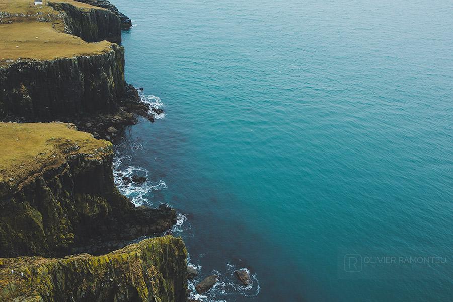 Côte près de Neist Point, sur l'île de Skye